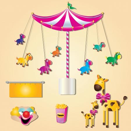 carousel: fair Illustration