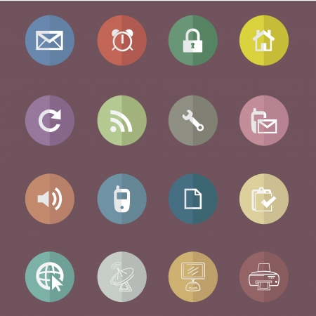 adress: Basic Flat icon set for Web and Mobile Application