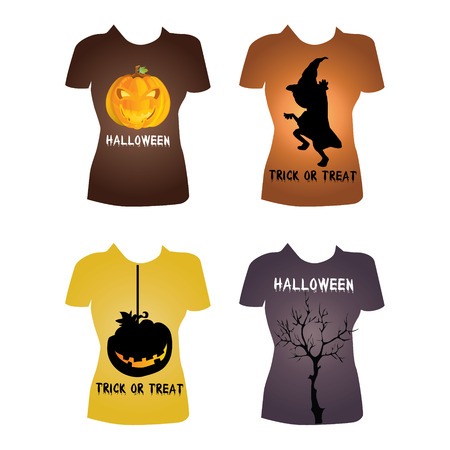 Halloween t-shirt Vector
