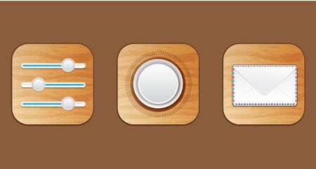 wooden icon Illustration