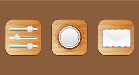 wooden icon Ilustracja