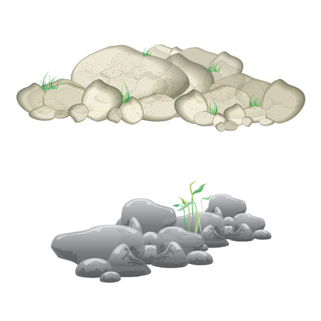 green grass in stones as landscape design element vector