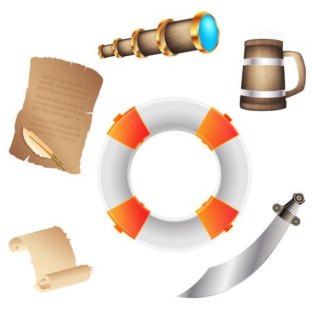 Pirate icons  Ilustracja