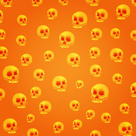 Halloween skull pattern Illustration
