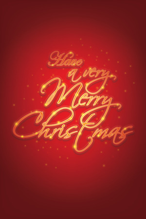 Merry Christmas lettering vector illustration