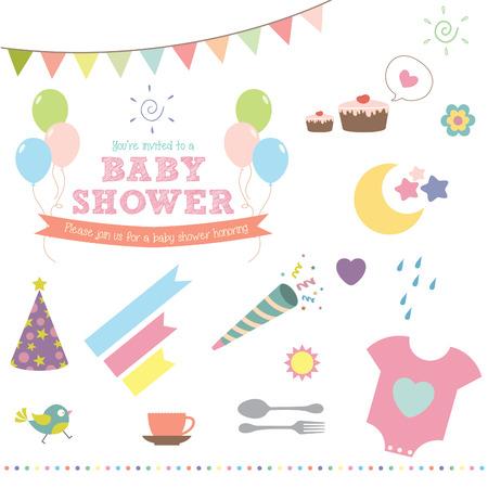Baby shower ikony