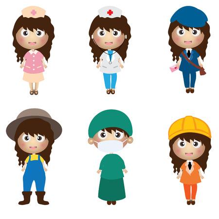 school nurse: career kids character