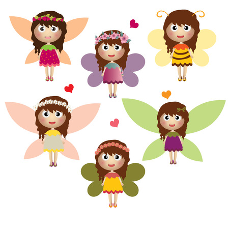 fairytale set on white background Vector