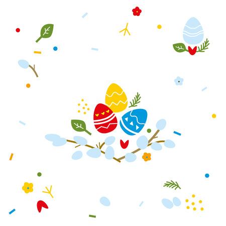 Seamless Easter element vector background illustration.