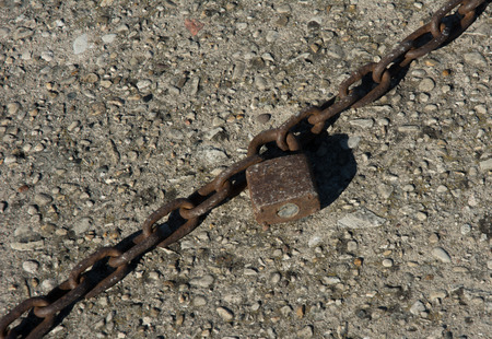 Lock and a chain