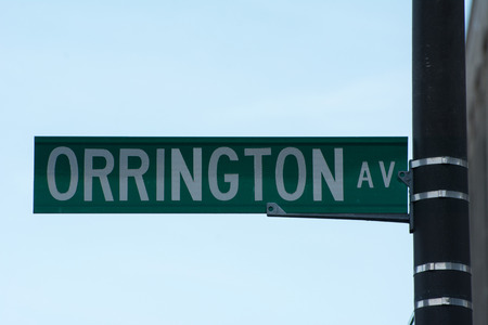 Street signs - Orrington ave