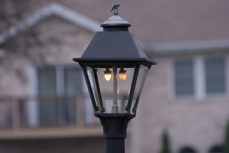 electricity post: Street lamp Stock Photo
