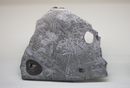 Meteorite in a museum