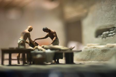 mummification: Mummification installation in a museum