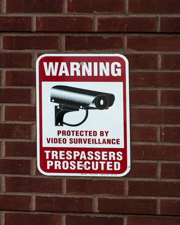 under surveillance: video surveillance sign