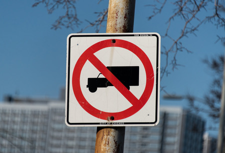 No trucks sign Stock Photo