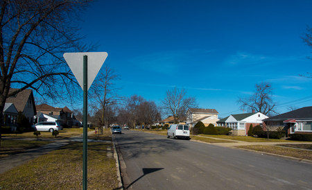 suburbs: American suburbs Stock Photo
