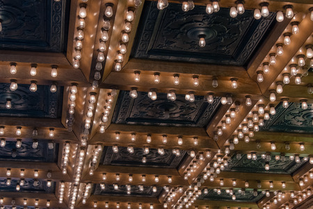 Lights on a theatre ceiling 免版税图像