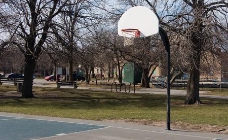 nba: Basketball hoop Stock Photo