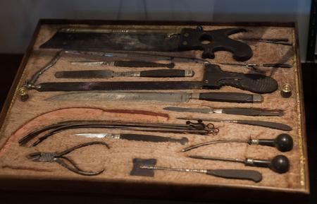 Old medical instruments Stock fotó