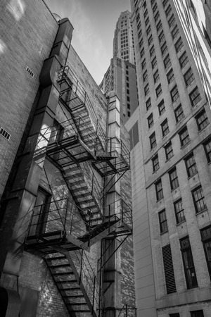 escape: Chicago builng fire escape Stock Photo
