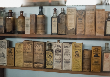 Oude medische winkel Redactioneel
