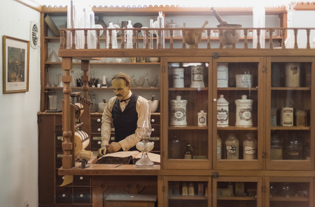 alchemical: Old medical store Editorial