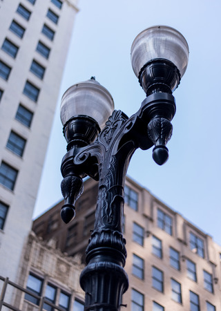 Outside lamp in Chicago