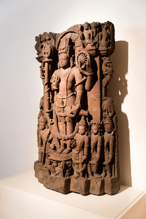 Ancient statue from India Stock Photo