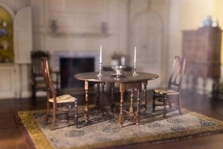 Habitación antigua en miniatura