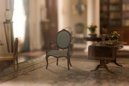Miniatuur oude kamer
