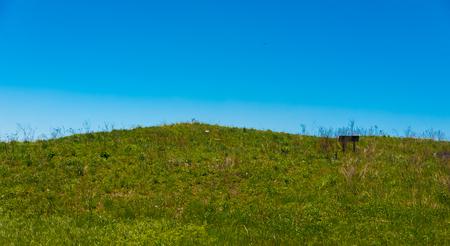 緑の丘と青空公園で