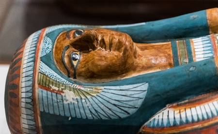 Egyptian mummy sarcophagus 版權商用圖片
