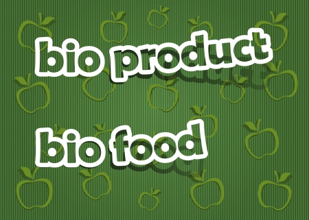 bio product and bio food;  realistic cut, takes the background color