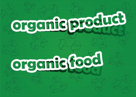 organic product and organic food; realistic cut, takes the background color