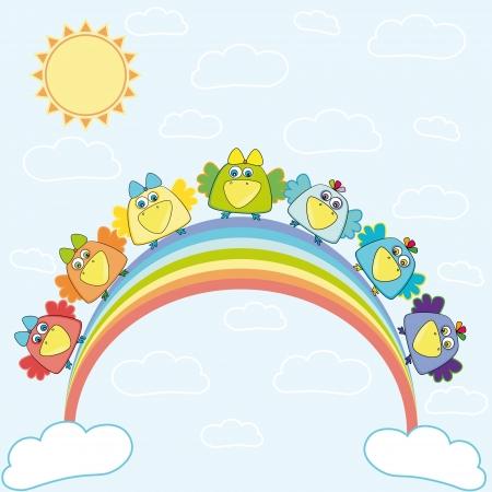love song:  Birds sitting on a rainbow