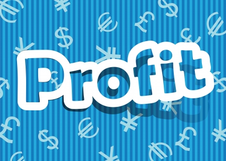 marketers: vector profit; realistic cut, takes the background color