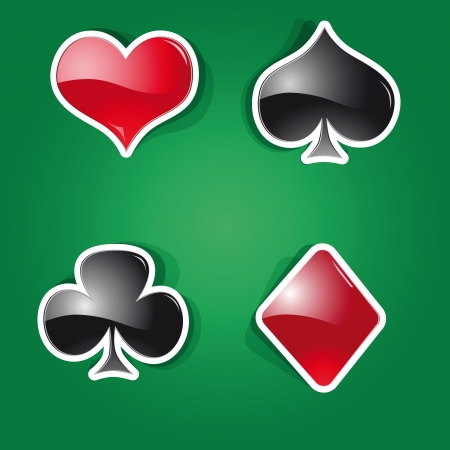 set of icons on the playing Cards theme Vector