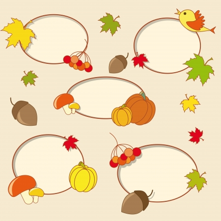 Framework for the autumn theme Vector