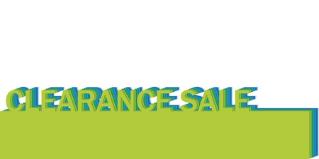 poster with the words clearance sale, realistic cut, takes the background color Illustration