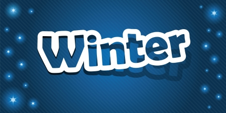 Vector illustration  Winter text  Realistic cut, takes the background color   Illustration