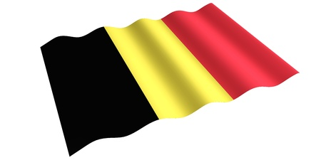 growing Belgian flag  isolated 3d rendering