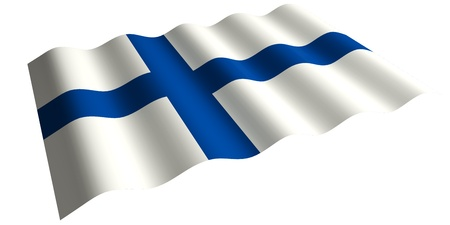 the flag of Finland  isolated 3d rendering