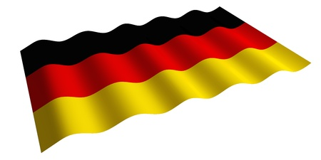 flying the flag of Germany  isolated 3d rendering