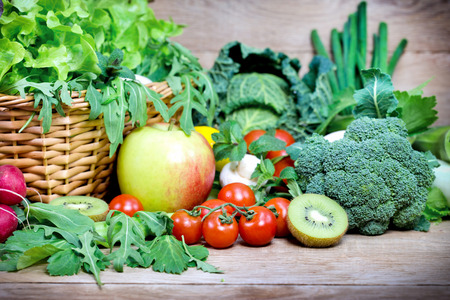 fresh vegetable: Fruits and vegetables