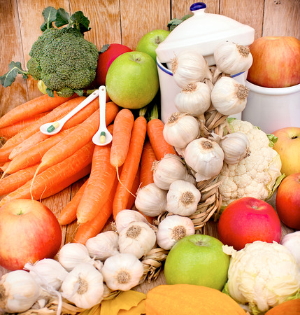 Das Konzept der gesunden Ernährung Lizenzfreie Bilder