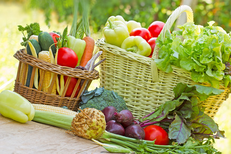 Gezonde voeding - biologische groenten Stockfoto