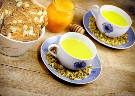 chamomile tea: Chamomile tea  tea time