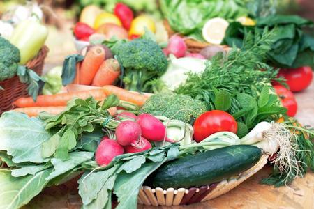 Bio-Gemüse und Früchte  Lizenzfreie Bilder