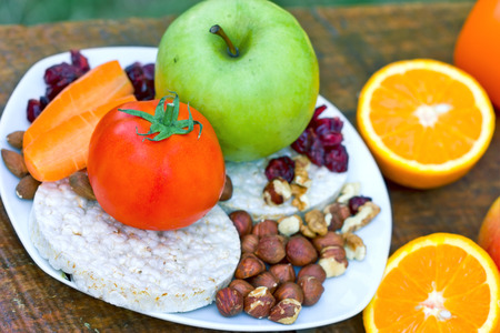 comida saludable: Comida saludable - comida vegetariana Foto de archivo
